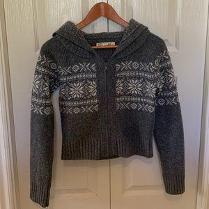 Cropped Zara wool hooded sweater